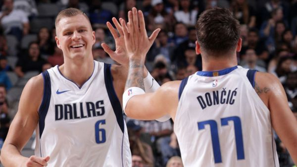 Luka Doncic, Kristaps Porzingis off to hot beginning together in combined 57-point exertion