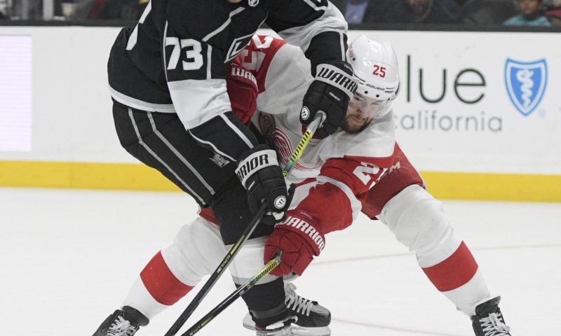 Alex Iafallo's OT objective finishes Kings' rebound against Red Wings