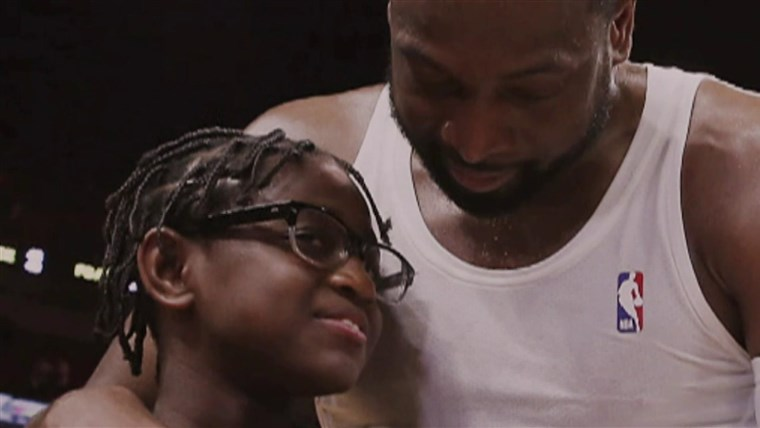 Dwyane Wade is pleased to help his 12-year-old to live in her fact